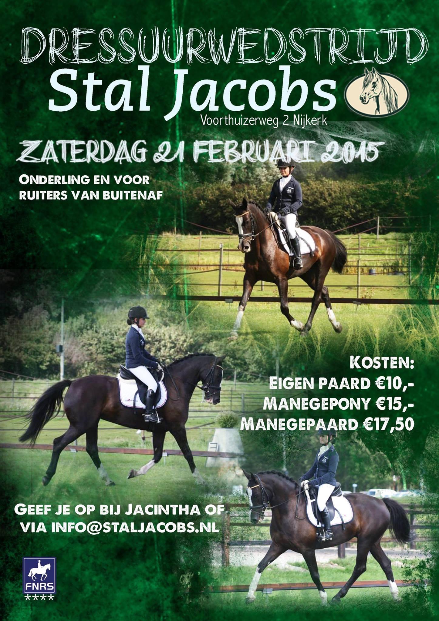 Startlijst Dressuur 21-02-15
